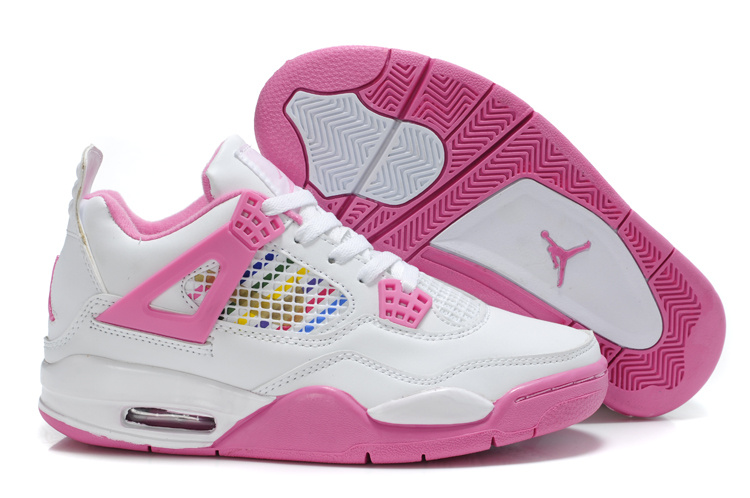 design intemporel 9d42f 699b7 Air-Jordan-4-Air-Max-Femme-jordan-femme-noir-et-rose,basket ...